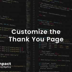 Customize the Thank You Page